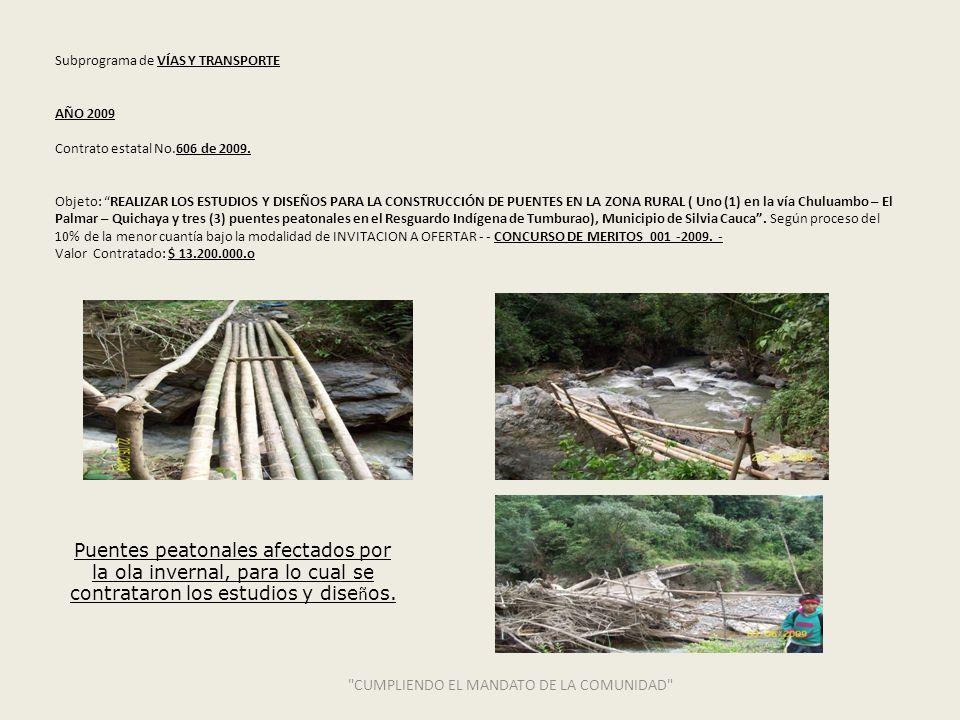 RECURSOS DE TRANSFERENCIAS 2008 -2009 CUMPLIENDO EL MANDATO DE LA COMUNIDAD