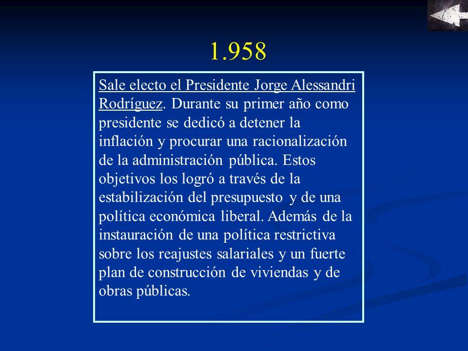 1.959 Revolución de los gerentes La prensa de la época define el manejo liberal de la economía como la hora de los gerentes.