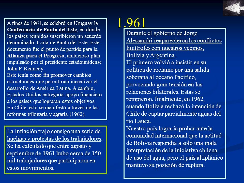 1.962 Se publica y aprueba la primera ley de Reforma Agraria Nº 15.020.