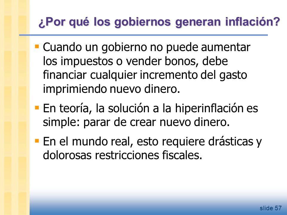 slide 58 ¿Cómo se detiene una hiperinflación.