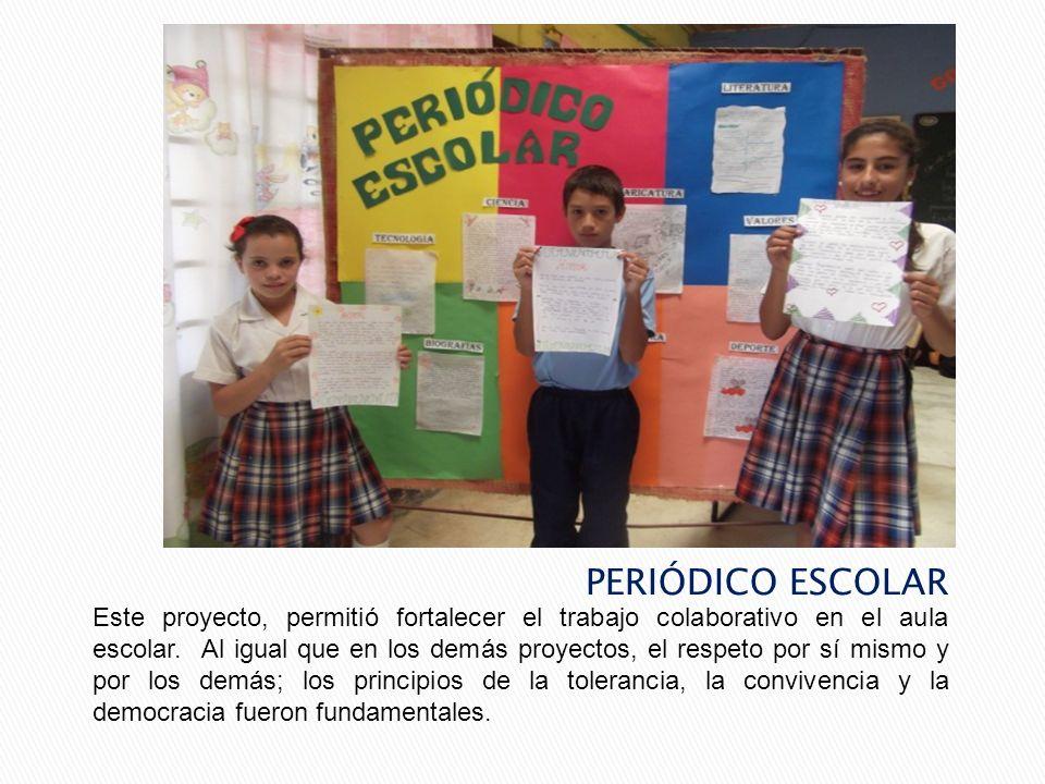 Con este proyecto, los estudiantes fortalecieron los lazos de amistad en el aula de clase; se trabajó en el mes de septiembre; diariamente se hacía la reflexión teniendo en cuenta una frase relacionada con la amistad.