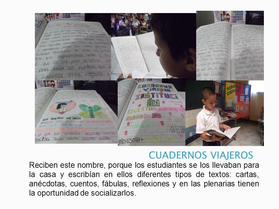 Diariamente los estudiantes realizaban un ejercicio de competencia escritural, el cual les exigía recordar y escribir acerca de las actividades realizadas el día anterior, y los aprendizajes más significativos de los temas estudiados.