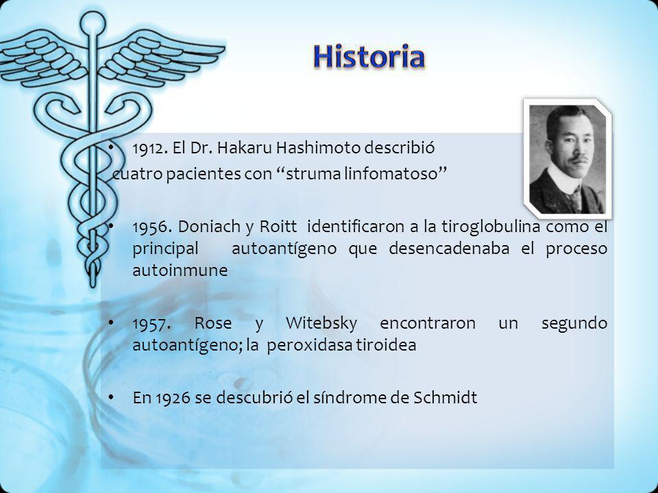 Es una enfermedad autoinmune, de carácter hereditario dominante, que constituye la principal causa natural de hipotiroidismo.