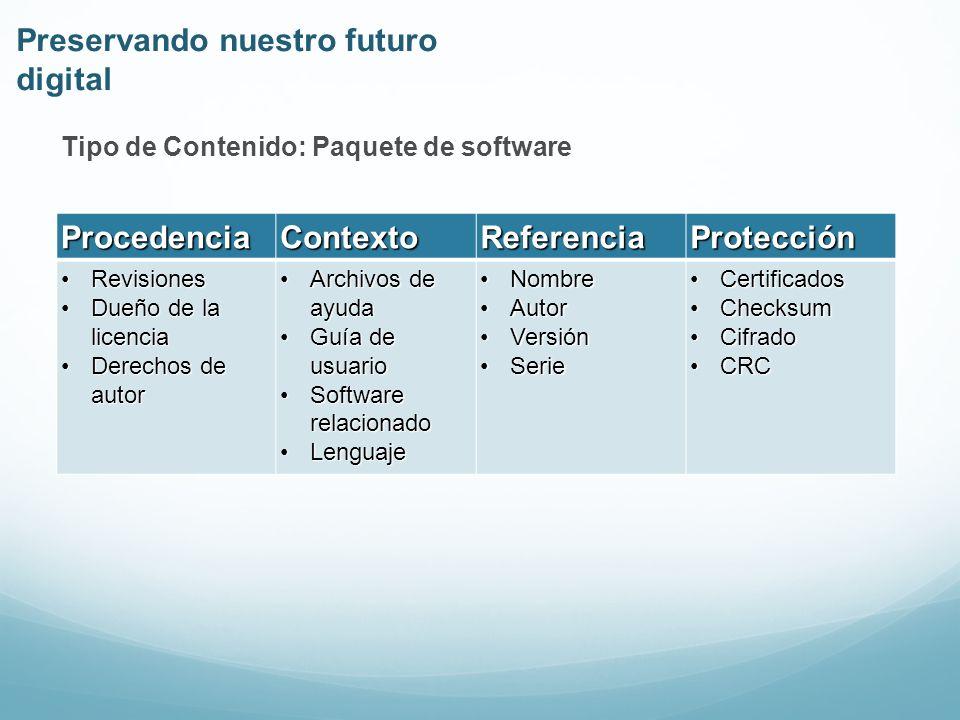 Fuente: Figure 4-1, page 3-6, Reference Model for an Open Archival Information System, CCSDS 650.0-B-1 Preservando nuestro futuro digital