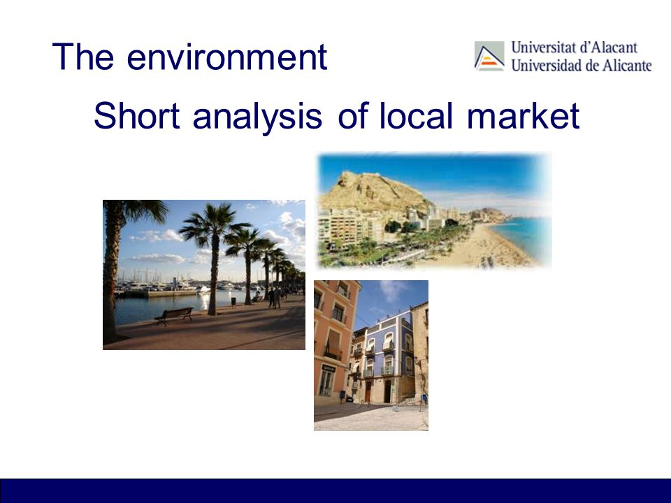 Traditional industrial areas The environment