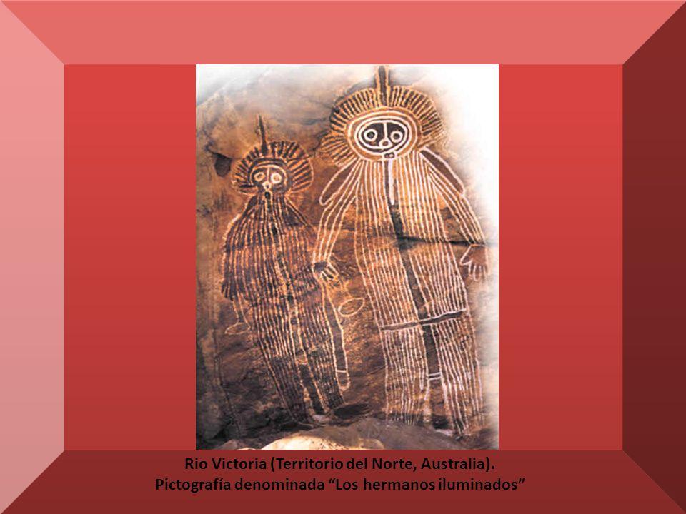 La cueva de las manos, en el Río Pinturas (Argentina), ejecutado entre el 10.000 a.C. y el 700 d.C