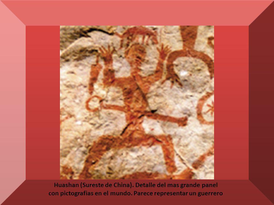 Sierra de Capivara (Piauí, Brasil) pictografías que representan ceremonias, ritos, mitos y escenas de la vida cotidiana.