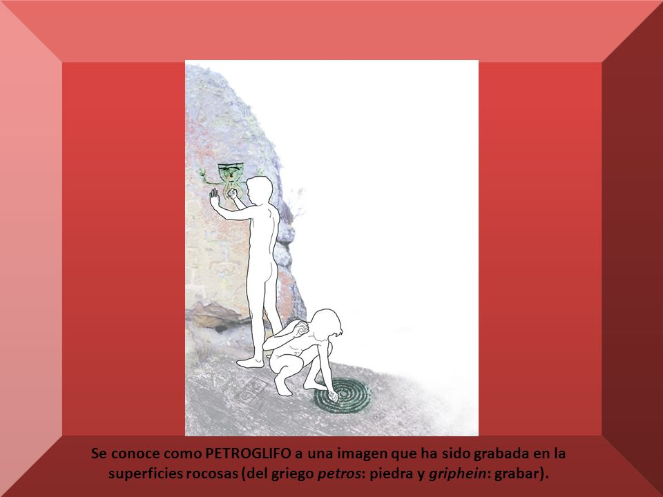 Las PICTOGRAFIAS (del latín pictum: relativo a pintar, y del griego grapho: trazar) son grafismos realizados sobre las rocas mediante la aplicación de pigmentos