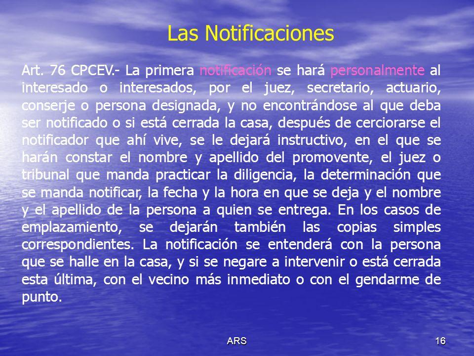ARS17 Las Notificaciones La notificación por lista de acuerdos.