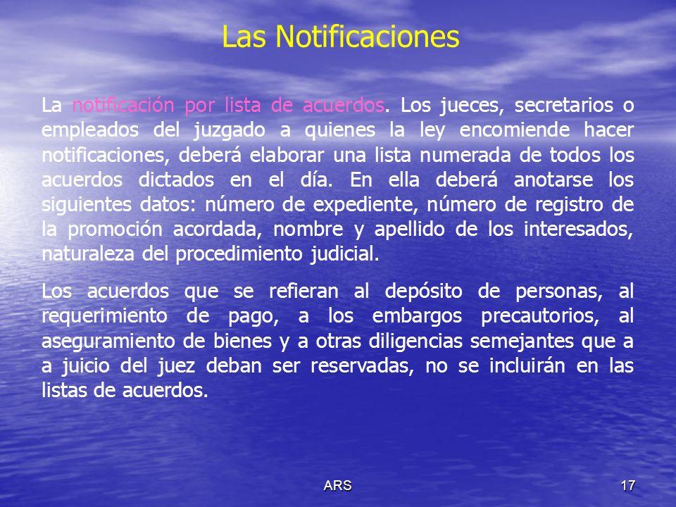 ARS18 Las Notificaciones Notificaciones por edictos.