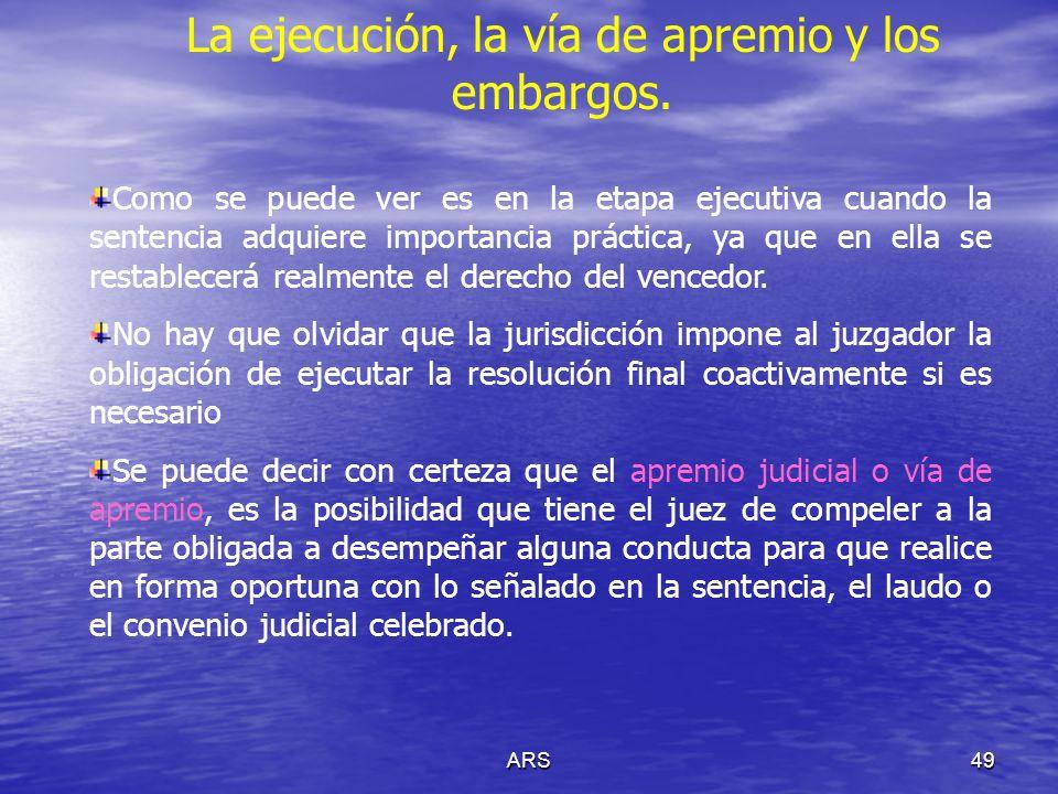 ARS50 La ejecución, la vía de apremio y los embargos.