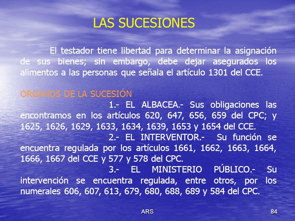 ARS85 LAS SUCESIONES PARTES EN LA SUCESIÓN A) HEREDEROS (Vid arts.