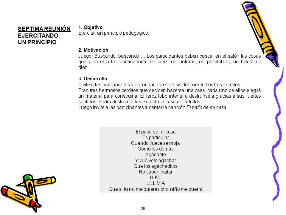 30 Propuesta de juego Canción de corro, dramatizando las estrofas.