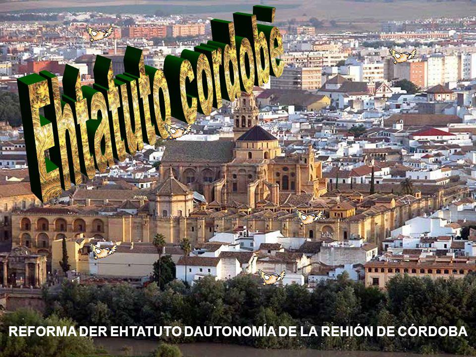 REFORMA DER EHTATUTO DAUTONOMÍA DE LA REHIÓN DE CÓRDOBA