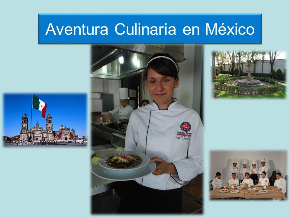 Programa de Gastronomía Mexicana Aprende y degusta la gastronomía mexicana en un programa de 8 días en la Universidad Justo Sierra, Campus San Mateo.