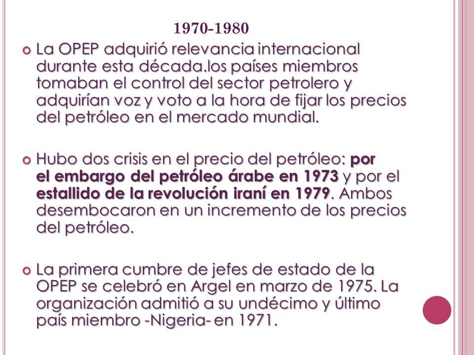 1980-1990 1980-1990 Los precios llegaron a los máximos a principios de la década debido a la revolución iraní y el arranque de la guerra entre Irak e Irán, en la que ambos bandos bombardearon sus yacimientos y refinerías.