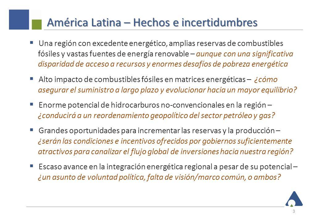 América Latina – Energía y economía 4 Demanda de energía Demanda de energía Millones de toneladas de petróleo equivalente PBI PBI Billones de dólares 2010 Población Población Millones Fuentes: FMI – WEO Base de datos 2011; CEPAL – Estadísticas Sociales 2011; BP Revisión Estadística 2011 55,6% 17,9% 20,4% Crecimiento promedio 4,1%