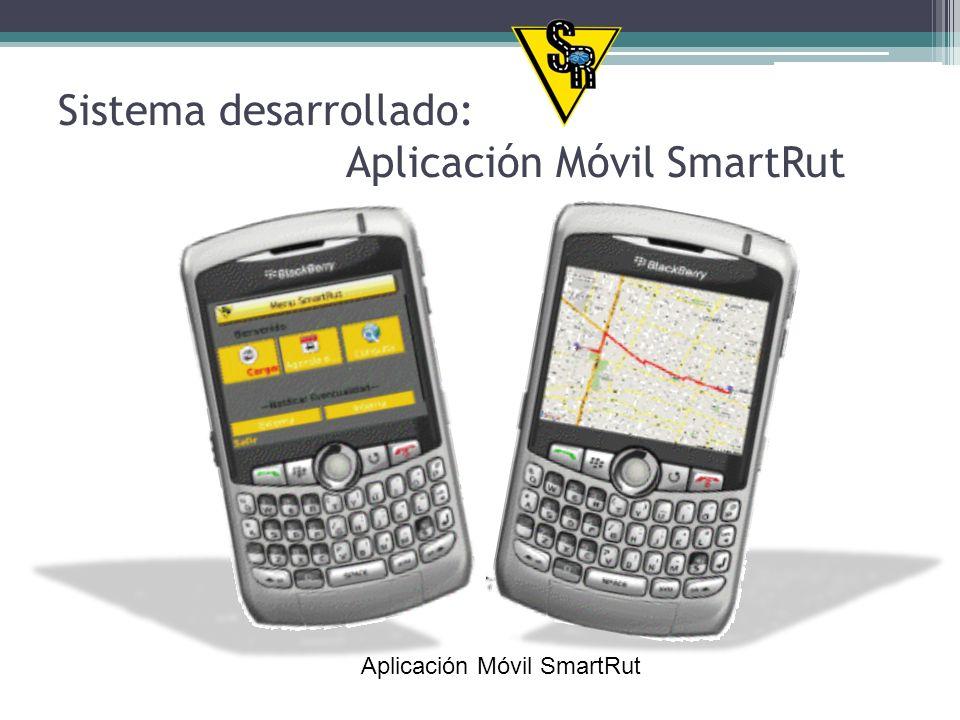 En el navegador web del dispositivo ingresar la dirección: http://208.100.58.203:8888/SmartRut/Descarga/SmartRutAplicacionMovi.jar Esta dirección le permitirá descargar la aplicación para ser instalada en el dispositivo móvil.