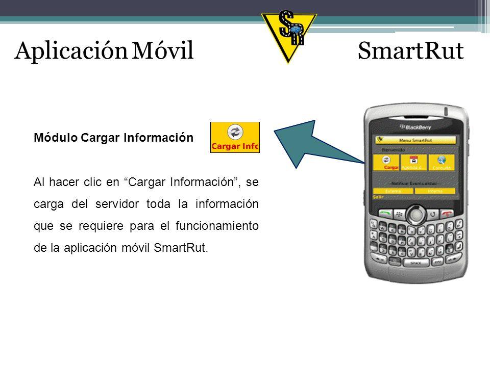 Aplicación MóvilSmartRut Módulo Agenda del Día En este módulo se encuentra el itinerario del usuario del dispositivo móvil (Empleado Junior), es decir se visualizan todos los clientes a visitar durante la jornada de trabajo del día.