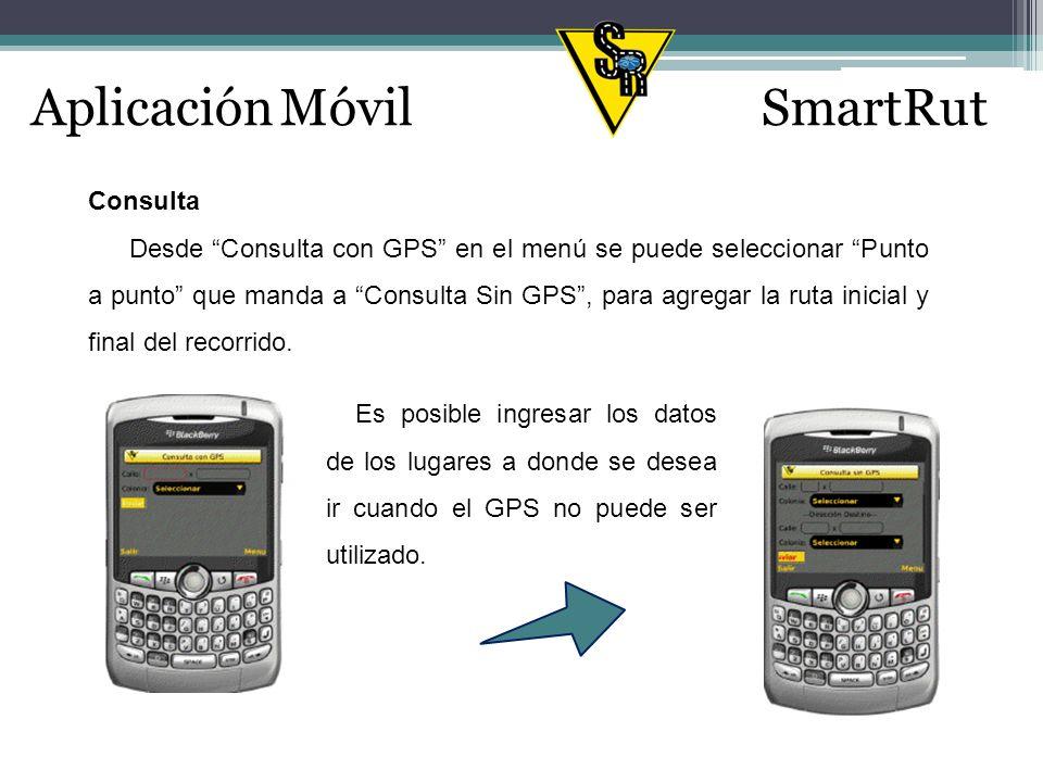 Aplicación MóvilSmartRut Notificar Eventualidad En esta sección el usuario del dispositivo móvil (Empleado Junior) tendrá la opción de enviar información sobre los percances que surjan durante el trayecto del recorrido de la agenda del día.