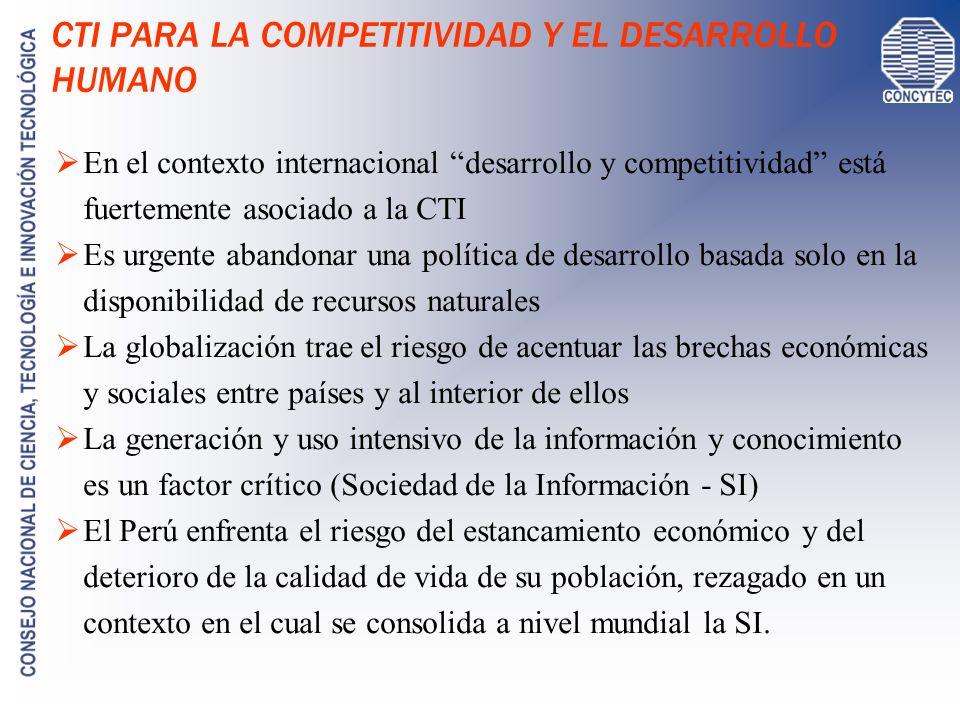 SUBVENCIONES A LA CTI EVENTOS PUBLICACIONES INNOVACIÓN INVESTIGACIÓN ESTUDIOS DE POSTGRADO Prom.
