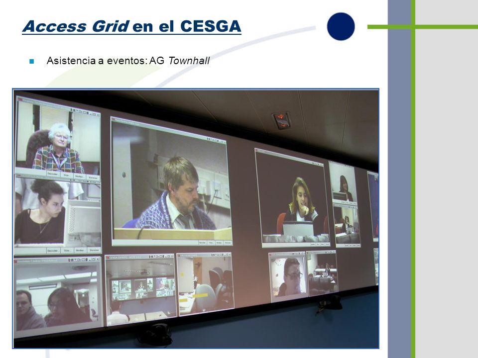 Access Grid en el CESGA n Asistencia a eventos: Otras reuniones