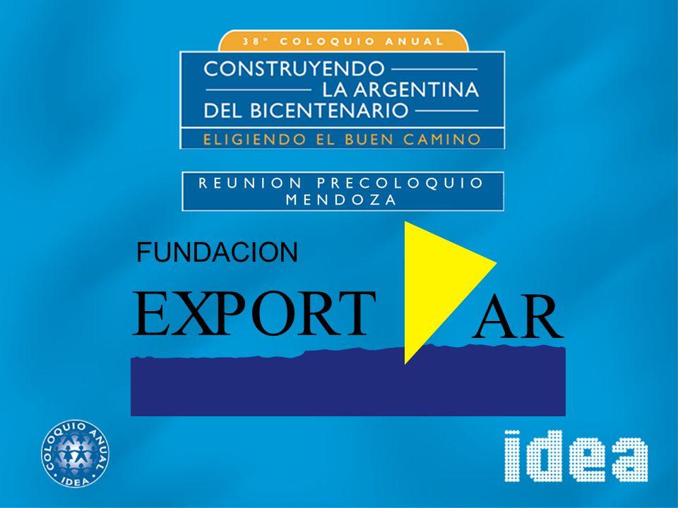 FUNDACION EXPORTAR SECTOR PRIVADO (CAMARAS) SECTOR PRIVADO (CAMARAS) SECTOR PUBLICO (SECRETARIA DE COMERCIO INTERNACIONAL) SECTOR PUBLICO (SECRETARIA DE COMERCIO INTERNACIONAL)