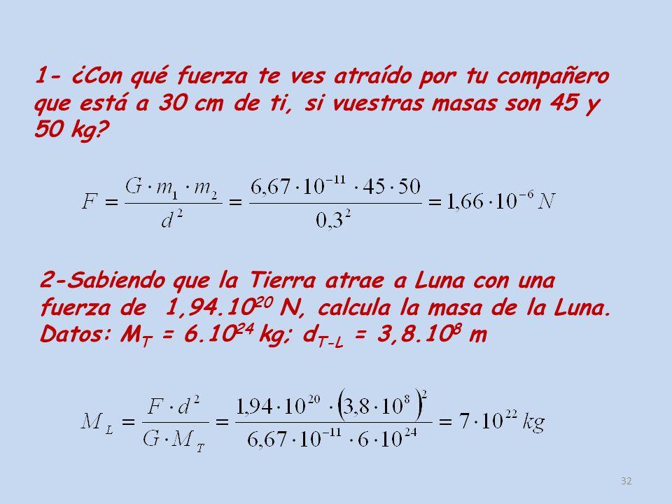 3- La masa de Venus es 0,815 veces la de la Tierra.