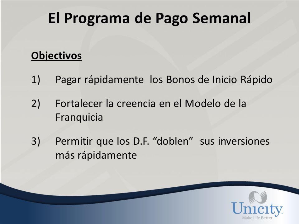 El Programa de Pago Semanal Programa 1)Los D.F.