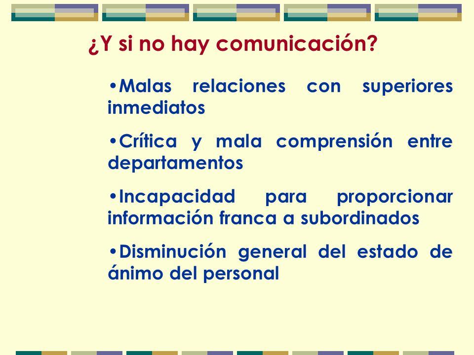 ¿Y si no hay comunicación.