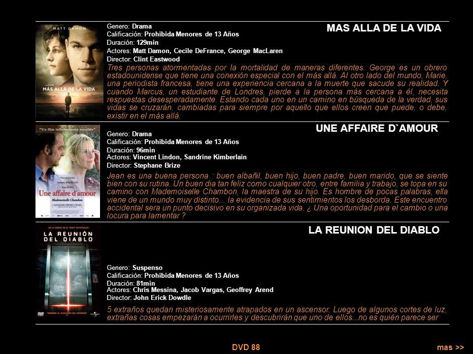 DVD 88 Es Cine. Es DVD. Marano 185 – Mar de Ajo (02257) 42-0432 dvd88mda@gmail.com