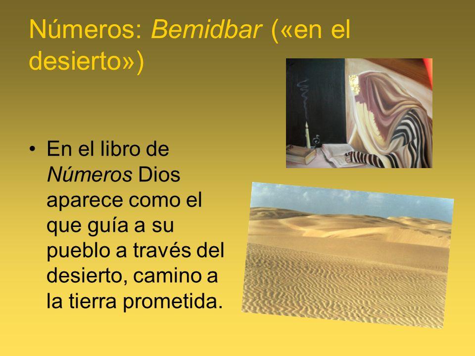 Libro de los Números El desierto es lugar de la intimidad con Dios, y es el lugar de la prueba.