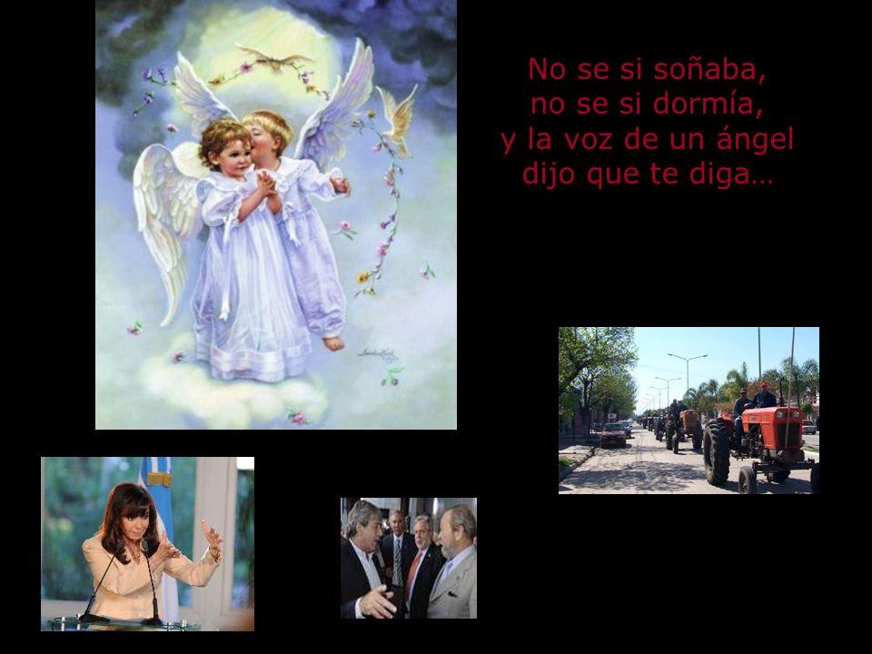 No se si soñaba, no se si dormía, y la voz de un ángel dijo que te diga…