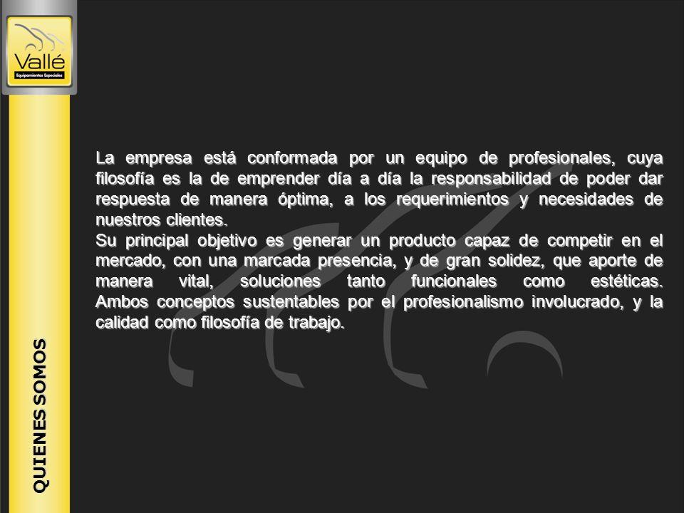 NUESTRA HISTORIA Vallé Equipamientos Especiales nace en la ciudad de Córdoba en el año 1957 con el objetivo de producir carrocerías especiales para diferentes vehículos.