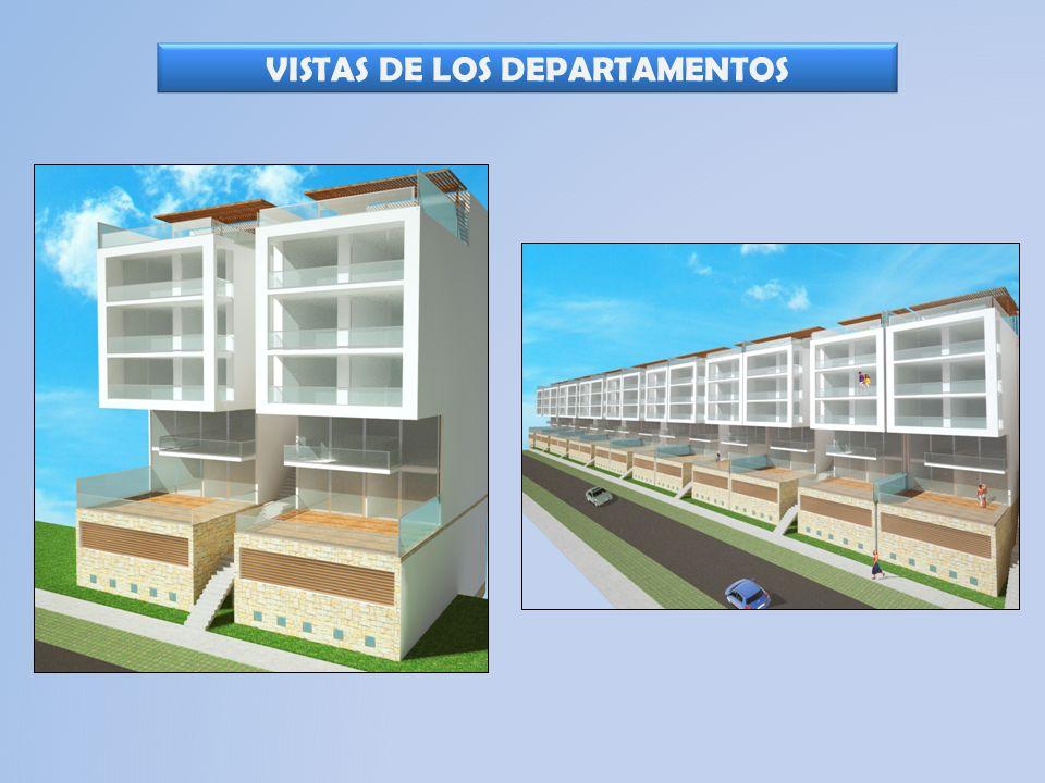 PRIMER PISO: Estacionamientos techados. 2 Cocheras por departamento.