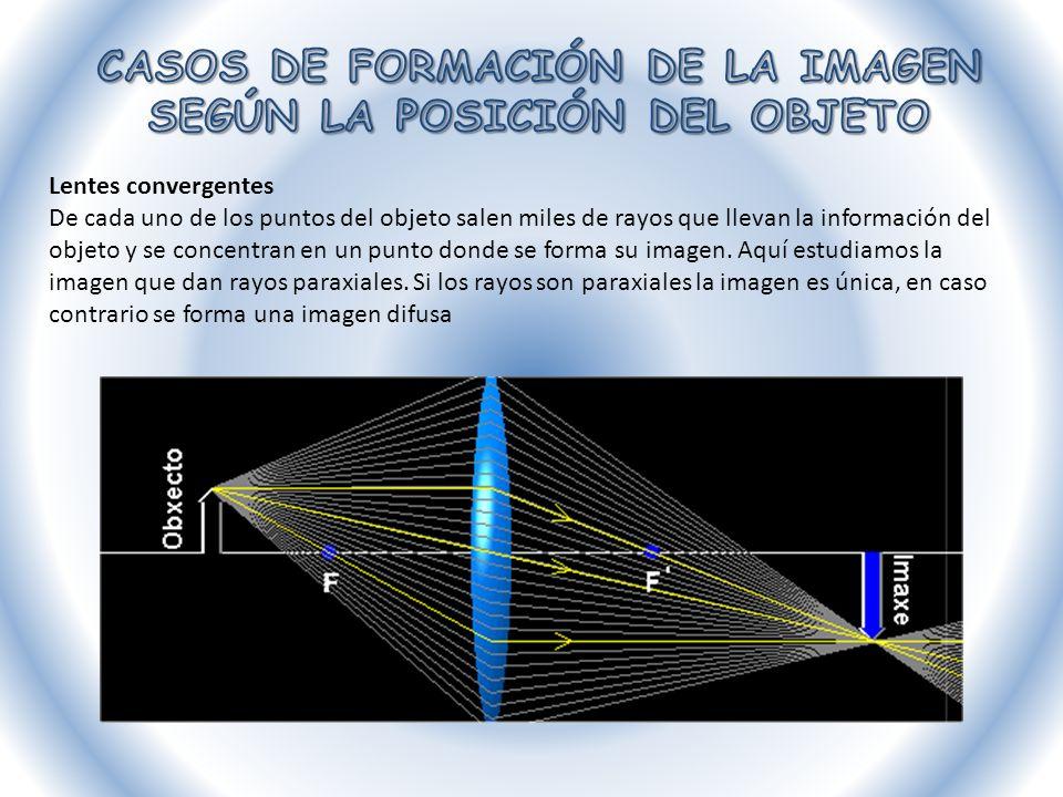 1.- Si el objeto está situado entre 2F y el infinito (menos infinito), la imagen estará entre F y 2F y será invertida, real y más pequeña.