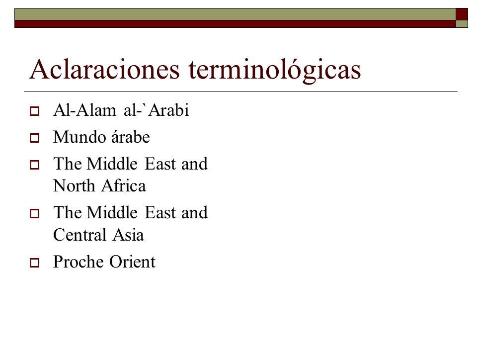 Las regiones del mundo árabe: El Maxreq Tres subregiones.