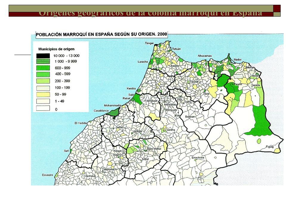 Distribución de la población marroquí en España