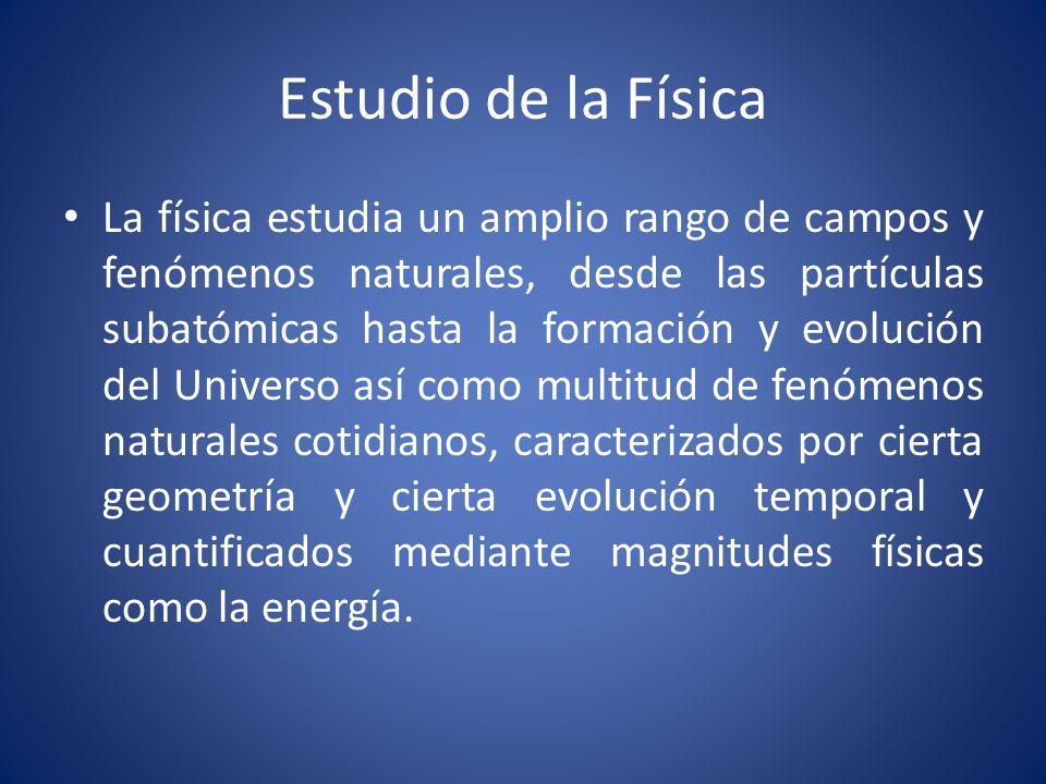Filosofía Psicología Biología Química Física Física y otras disciplinas