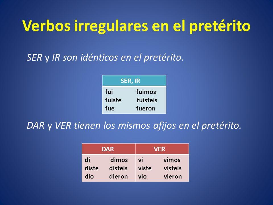 Verbos con cambios ortográficos Los siguientes verbos tienen un solo cambio en la forma YO.