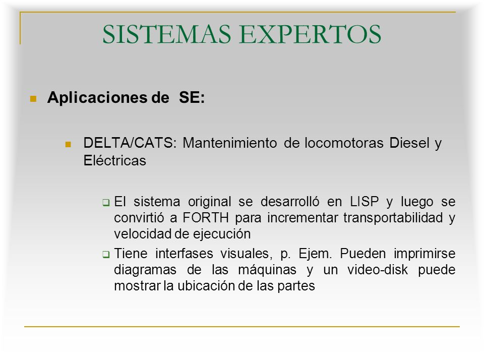 SISTEMAS EXPERTOS Aplicaciones de SE: Sistema Experto para identificar aviones