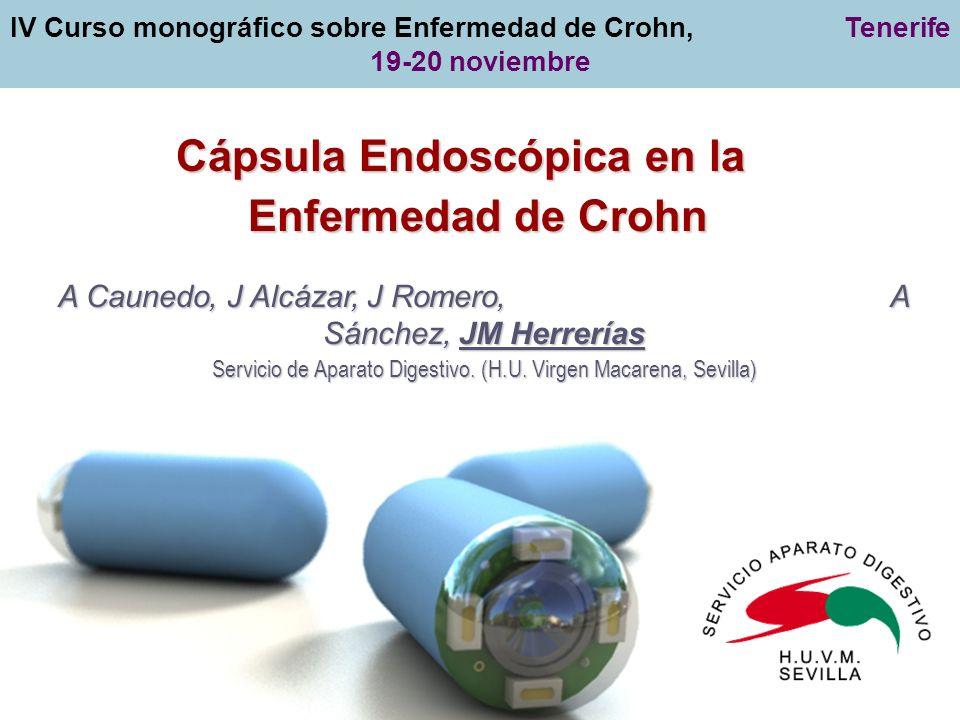 Diagnóstico de la Enf de Crohn Colitis Indeterminada Estudio de extensión de la Enf de Crohn Monitorización de la respuesta a terapias biológicas Cribado de Adenocarcinoma intestinal Enf de Crohn en población Pediátrica CE M 2 A en la Enfermedad de Crohn Indicaciones propuestas Diagnóstico de la Enf de Crohn