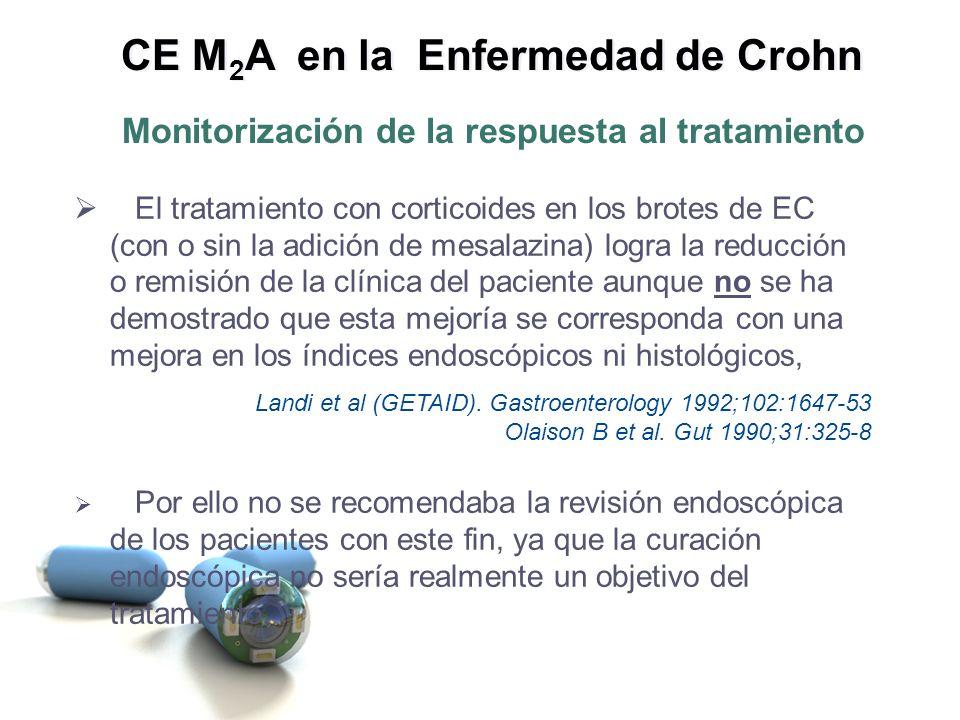 Sin embargo, con el inmunosupresor Azatioprina sí se ha descrito una mejoría de las lesiones endoscópicas cuando se logra buena respuesta clínica.
