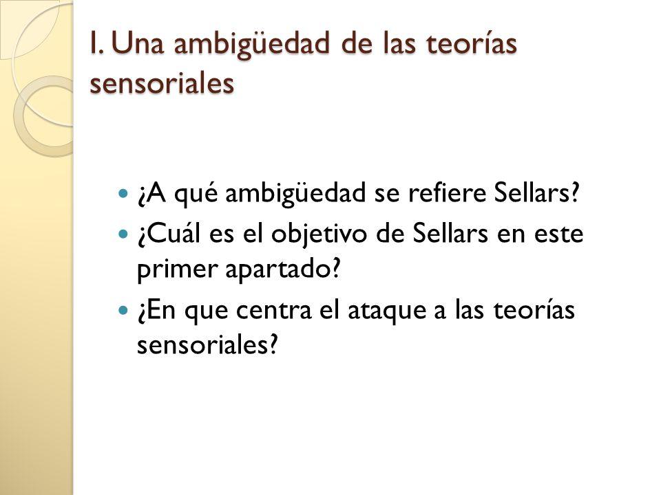 1.Teorías de los datos sensoriales Lo dado: lo observado en cuanto observado.