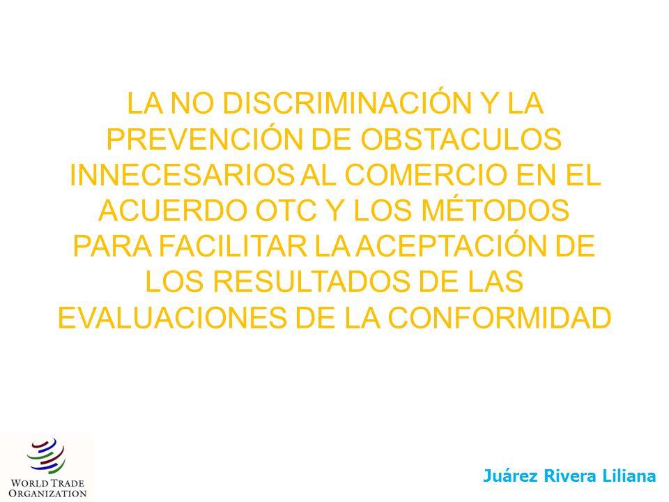 El principio de no discriminación es aplicable de la siguiente forma a los tres tipos de medidas abarcadas por el acuerdo: El concepto de no discriminación es uno de los fundamentos del sistema mundial de comercio.