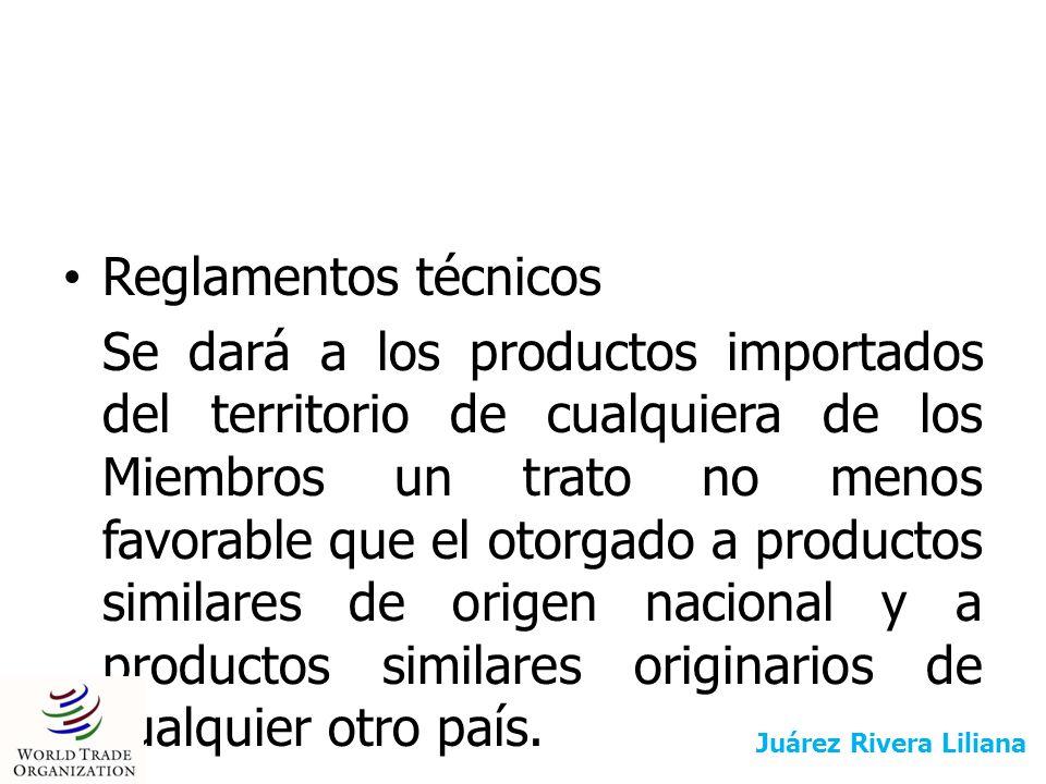 Normas: La institución con actividades de normalización otorgará a los productos originarios del territorio de cualquier otro Miembro de la OMC un trato no menos favorable que el otorgado a los productos similares de origen nacional y a los productos similares originarios de cualquier otro país.
