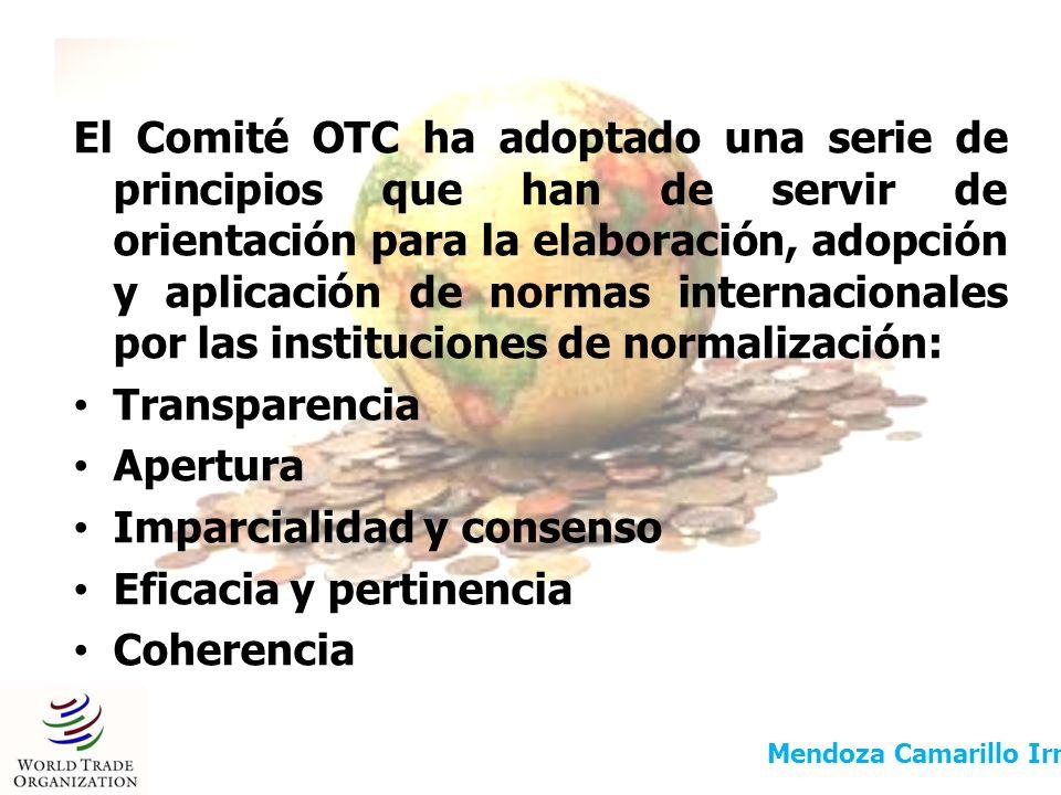 EJEMPLOS DE INSTITUCIONES INTERNACIONALES DE NORMALIZACIÓN COMISIÓN DEL CODEX ALIMENTARIUS ORGANIZACIÓN INTERNACIONAL DE NORMALIZACIÓN COMISIÓN ELECTROTÉCNICA INTERNACIONAL CEI UNIÓN INTERNACIONAL DE TELECOMUNICACIONES (UIT) COMISIÓN ECONÓMICA PARA EUROPA DE LAS NACIONES UNIDAS (CEPE) Mendoza Camarillo Irma Berenice