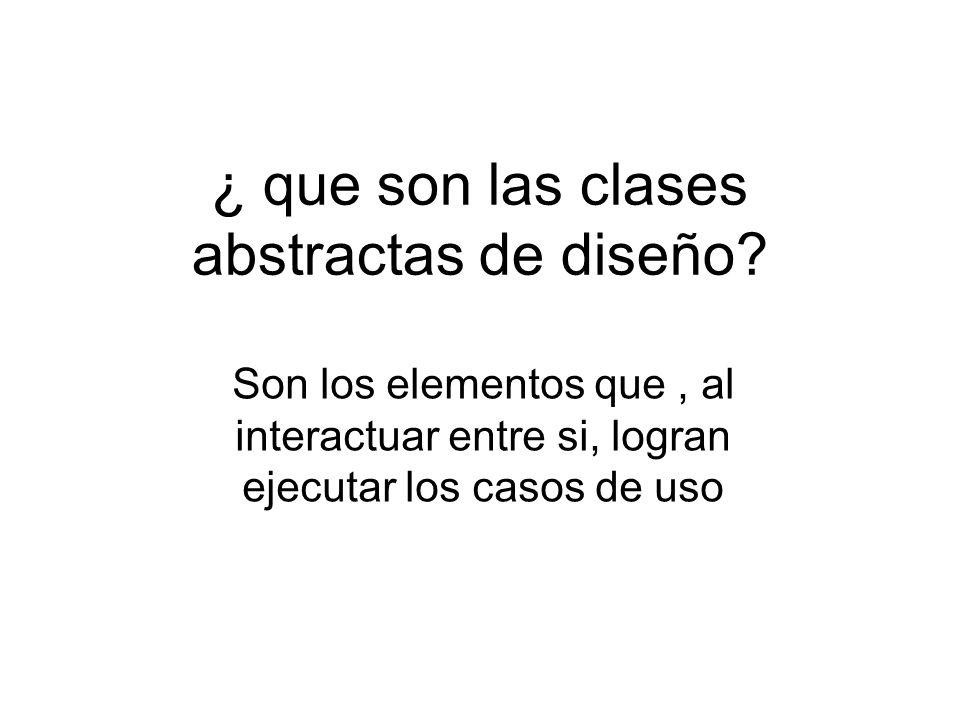 Diagrama de clase abstracta Las clases las he obtenido A partir del análisis efectuado Anteriormente sobre el Diagrama de casos de uso.