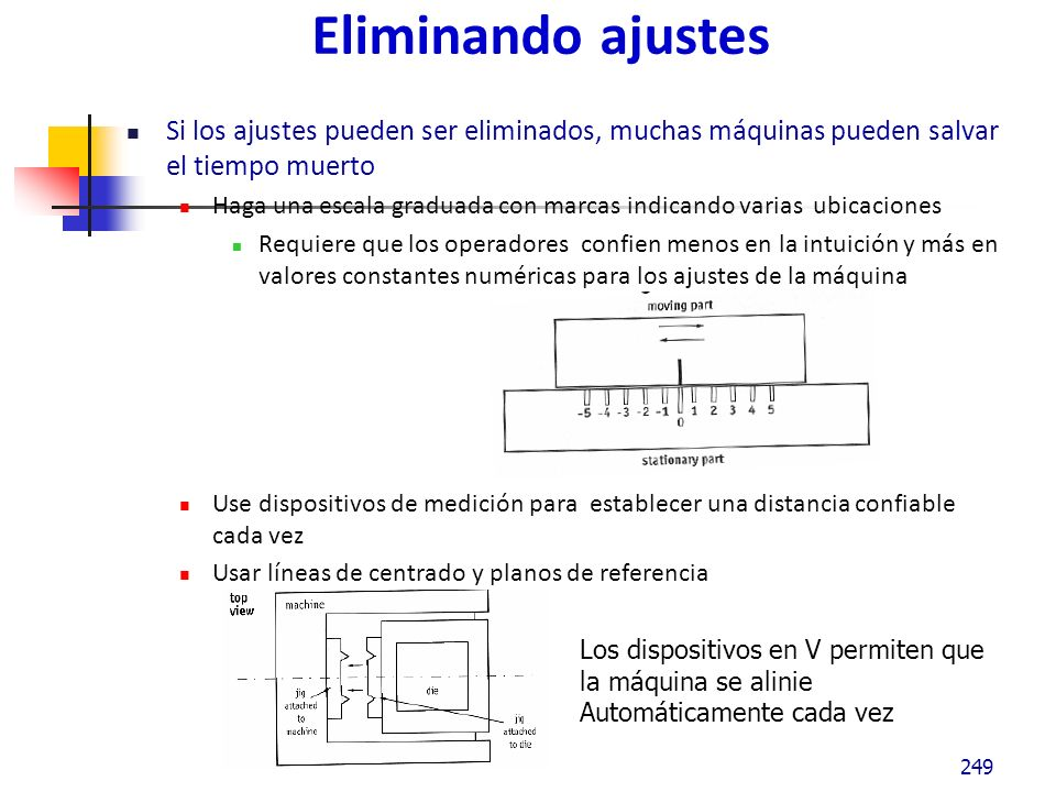 Mecanizar La mecanización debe de ser considerada después de racionalizar la preparación y ajuste con las técnicas antes mencionadas.