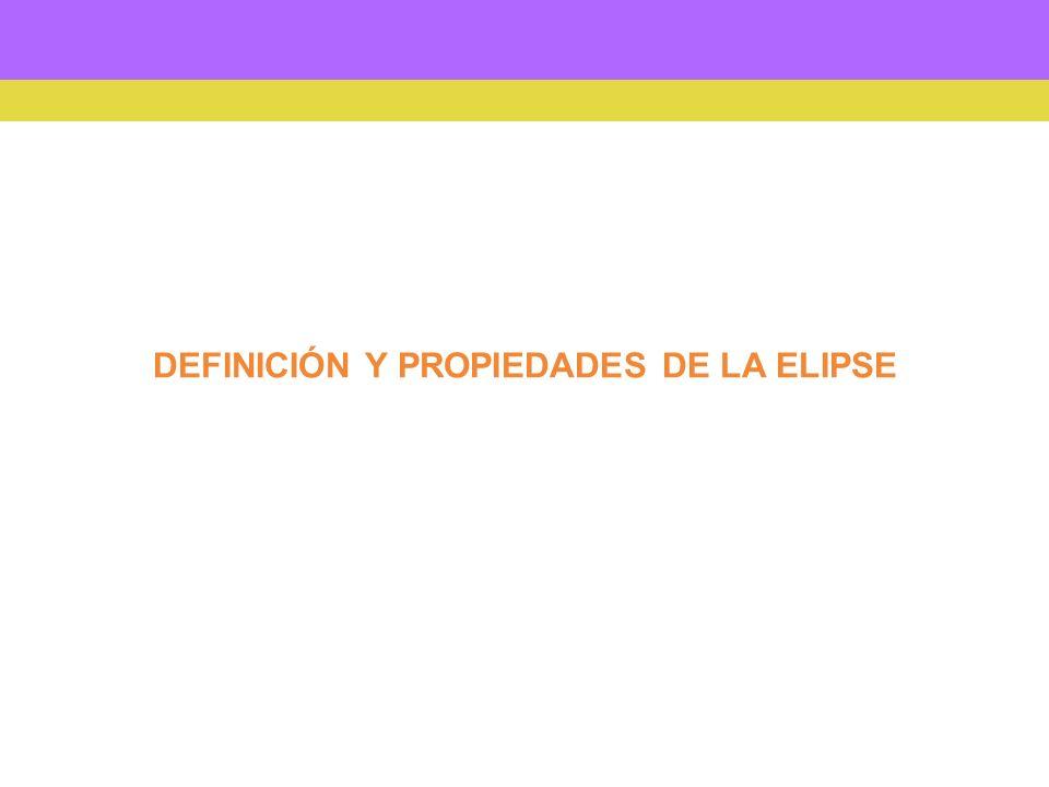 elipse La elipse es una curva cerrada y plana.